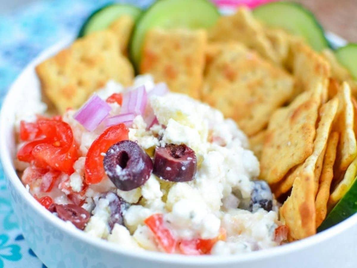 Greek dip in bowl