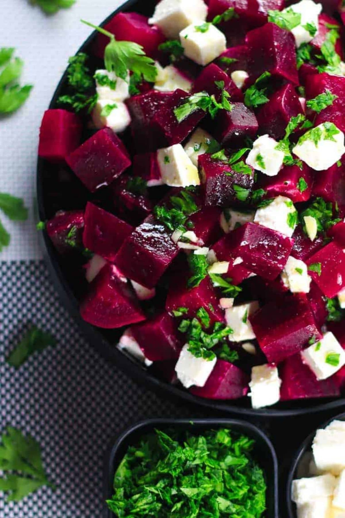 Beet salad in bowl