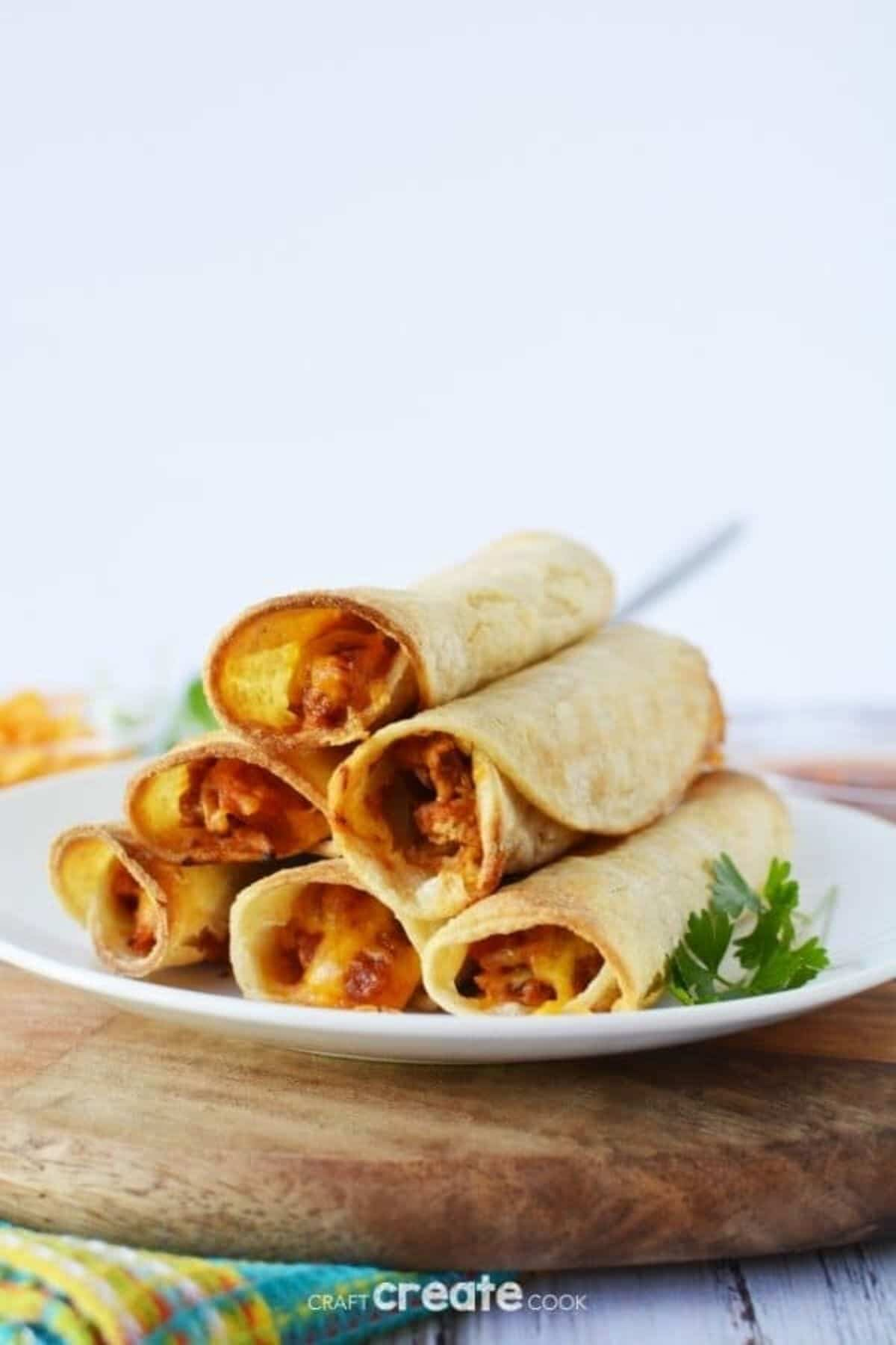 Taquitos on plate
