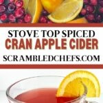 Cranberry apple cider collage
