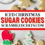 Sugar cookies collage