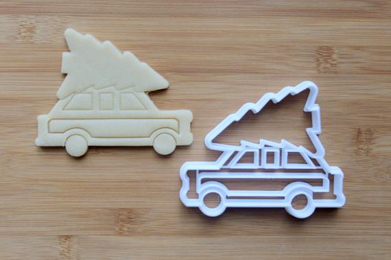 Car Christmas Tree Cookie Cutter 3D Printed Holiday Cookie   Etsy