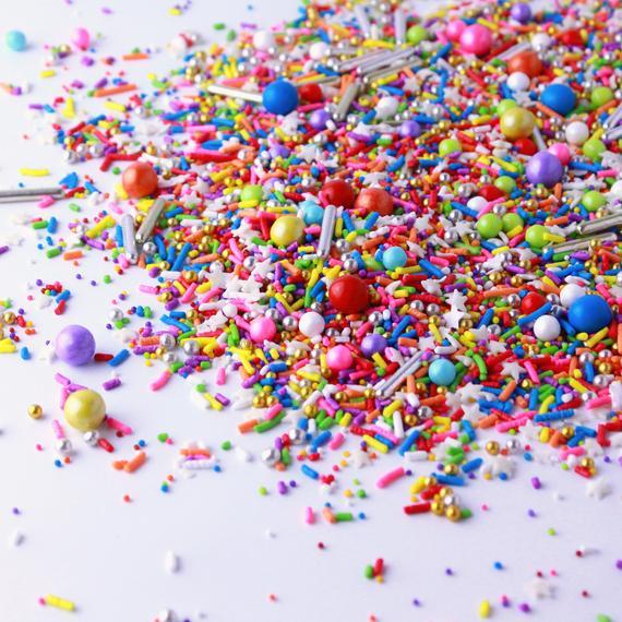 Rainbow Road Sprinkle Mix Rainbow Cake Topper Edible   Etsy
