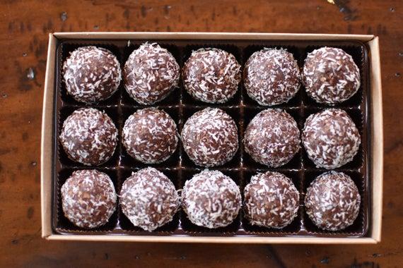 Vegan Coconut Cranberry Bliss Balls Gift Box Nut-free | Etsy