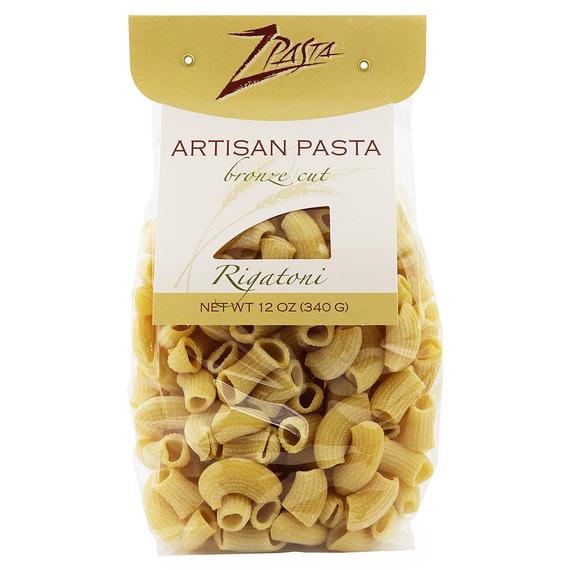 ZPasta Rigatoni Bronze Cut Artisan Pasta 12 oz | Etsy