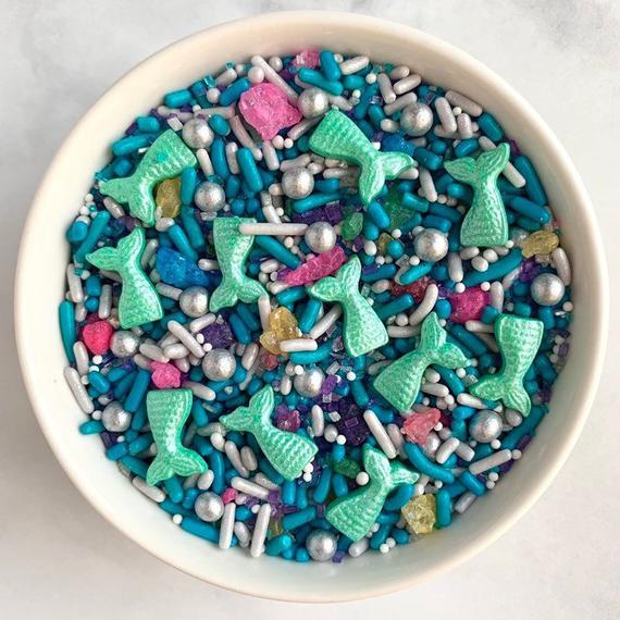 Mermaid Sprinkle Mix 3oz Edible Sprinkles Mermaid Tail | Etsy
