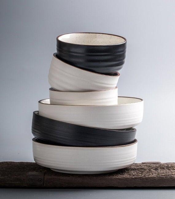 Speckled Glazed Ceramic Bowls Dinnerware Pottery | Etsy
