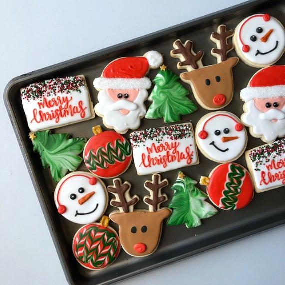 Assorted Christmas Cookies Christmas Cookies Custom | Etsy