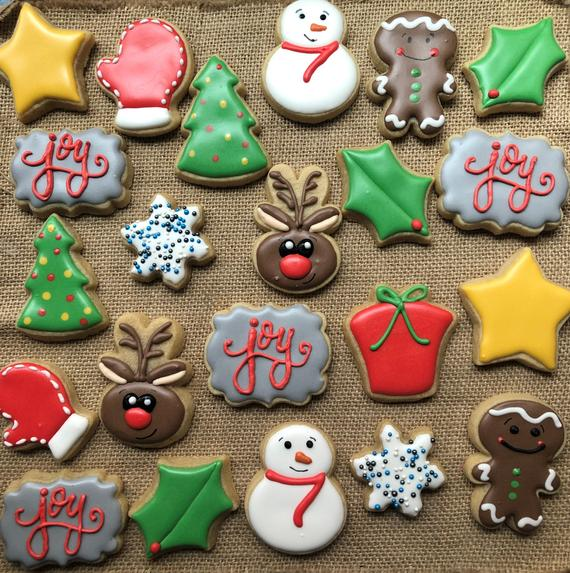 Mini Christmas cookies 3 doz | Etsy
