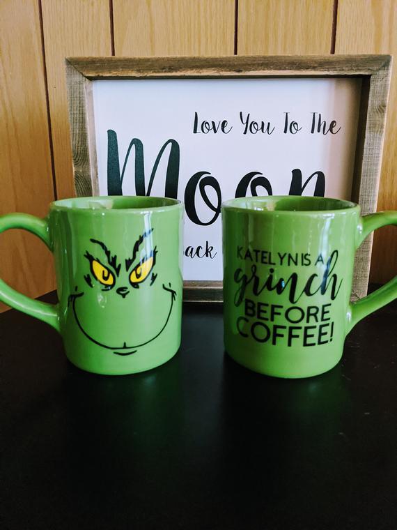 Grinch Mug | Etsy