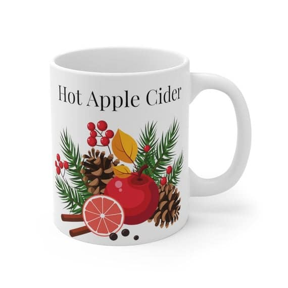Apple Cider Hot Cider Mug Hot Cider Cup Tea Spiced Tea | Etsy