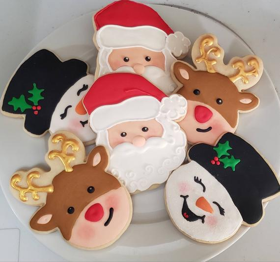 Christmas Sugar Cookies 1 dozen hand decorated 4   Etsy