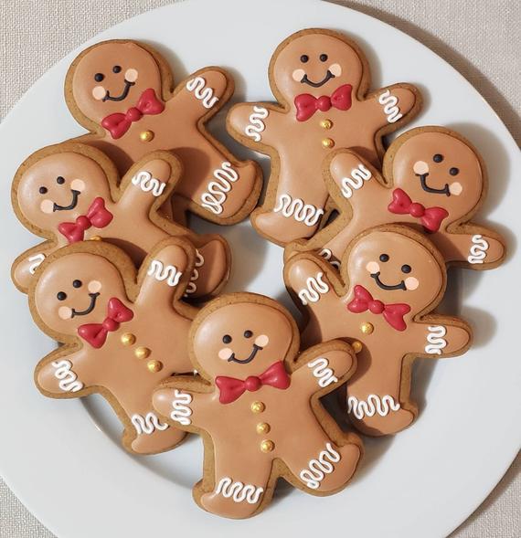 1 Dozen Iced Gingerbread Men for Christmas classic   Etsy