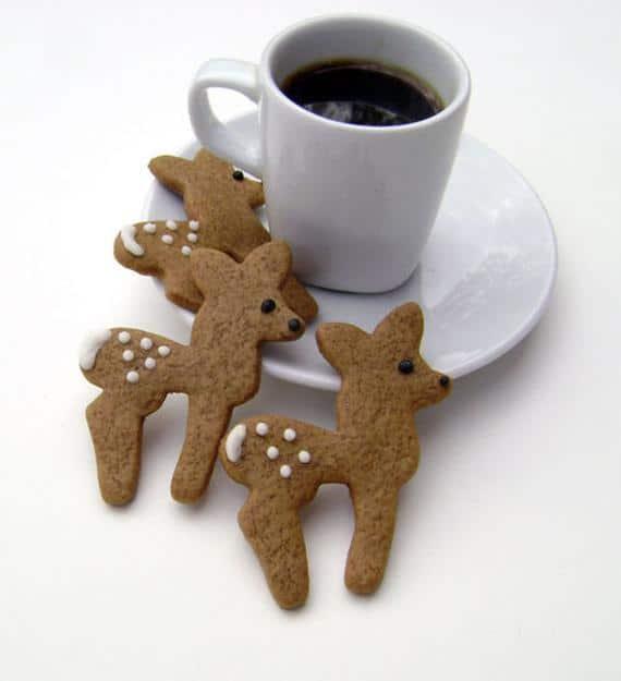 Gingerbread Deer Cookies | Etsy