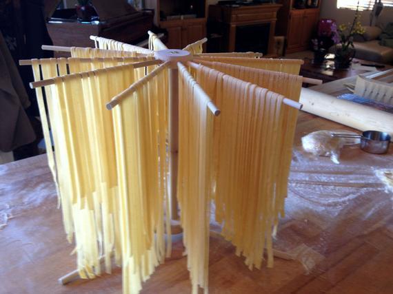 Round Hardwood Pasta Drying Rack Works with KitchenAid Pasta | Etsy