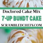 7-Up cake collage