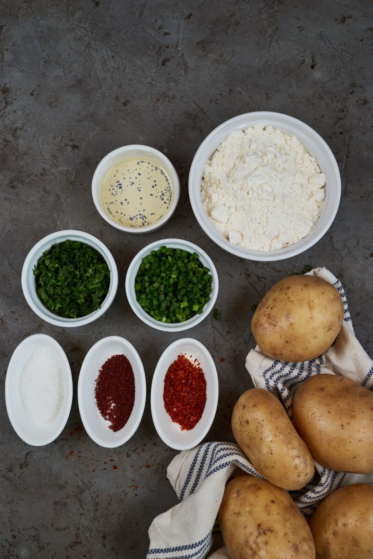 Ingredients for afghani bolani