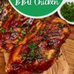 BBQ Chicken breast on cutting board