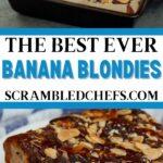 Banana blondie collage