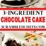 Blender cake collage