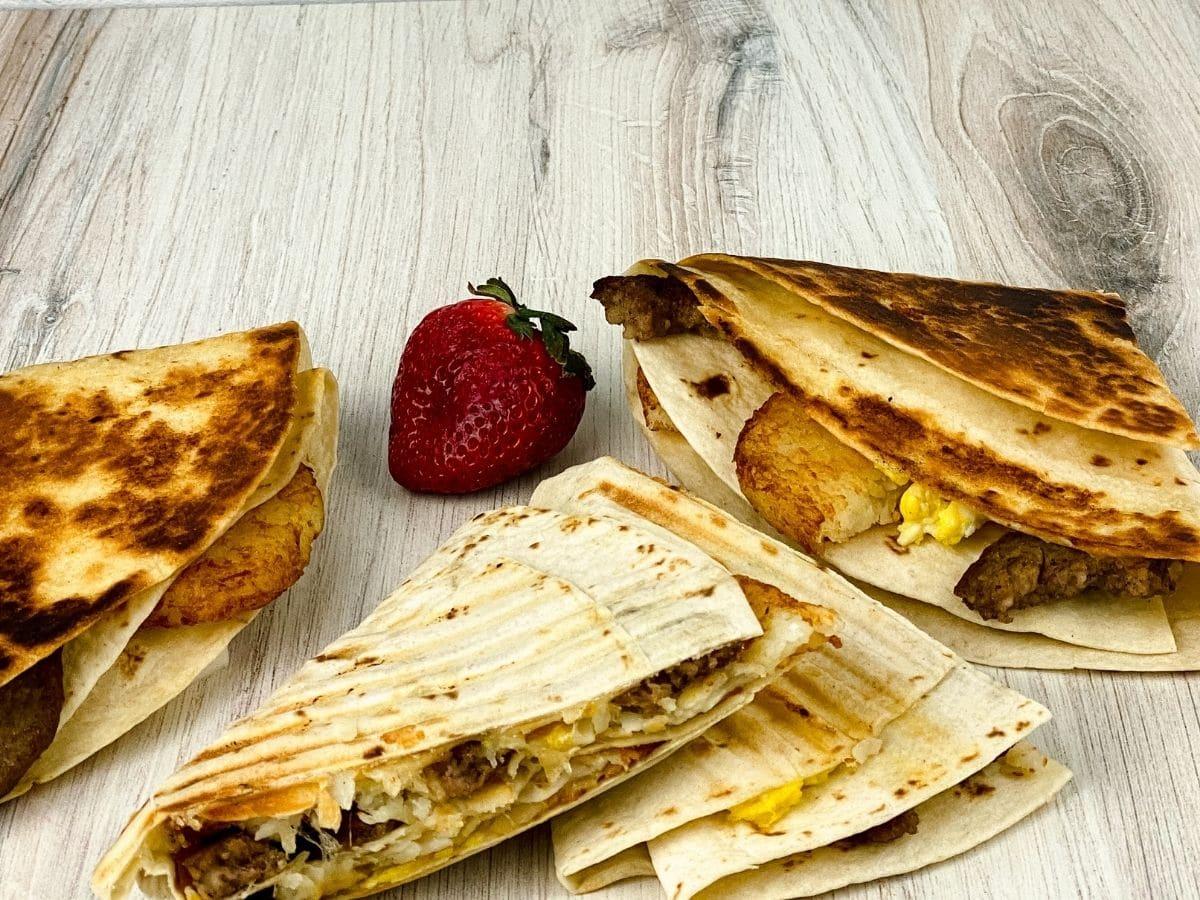 Breakfast tortilla wraps