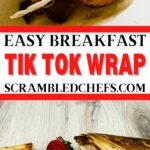 Breakfast tortilla wrap collage