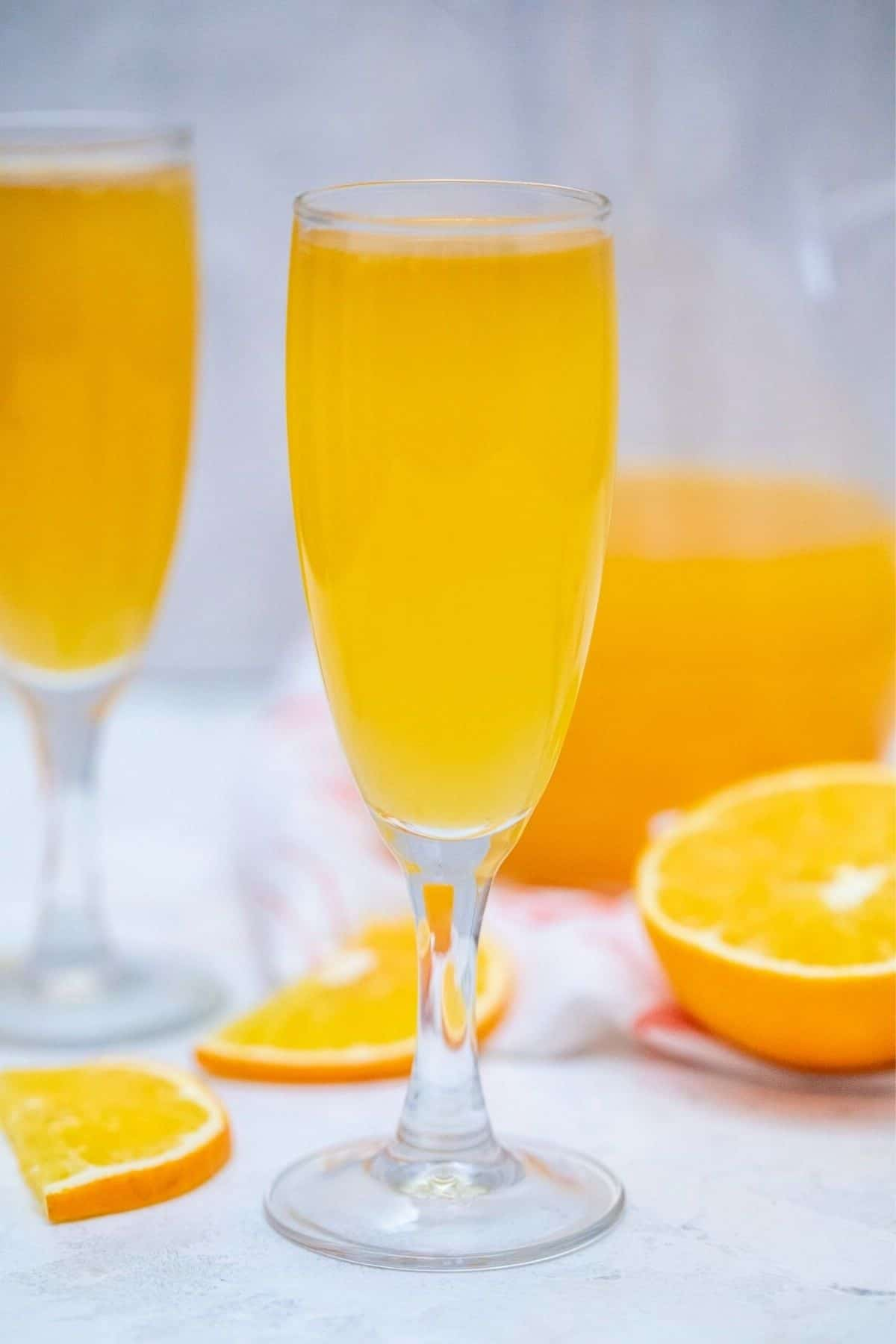 Mimosa in glass