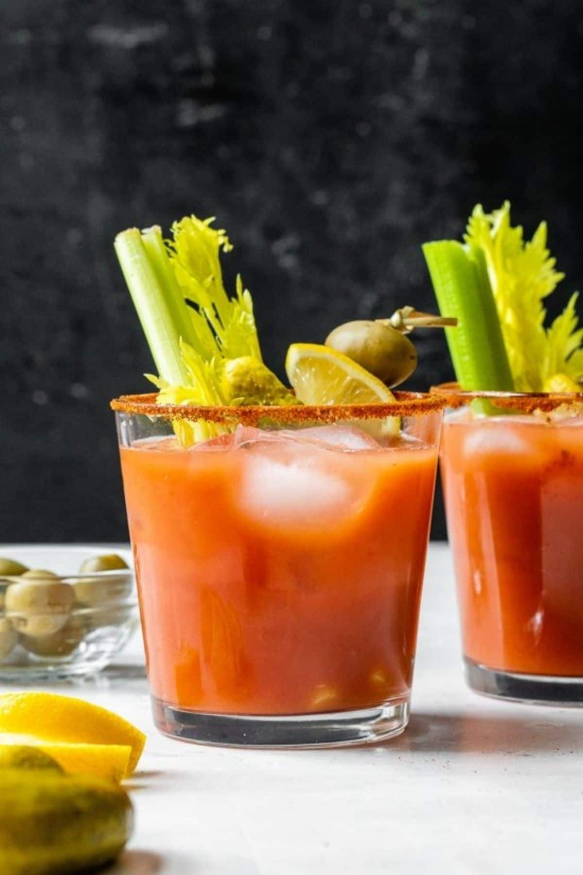 Bloody mary in cup