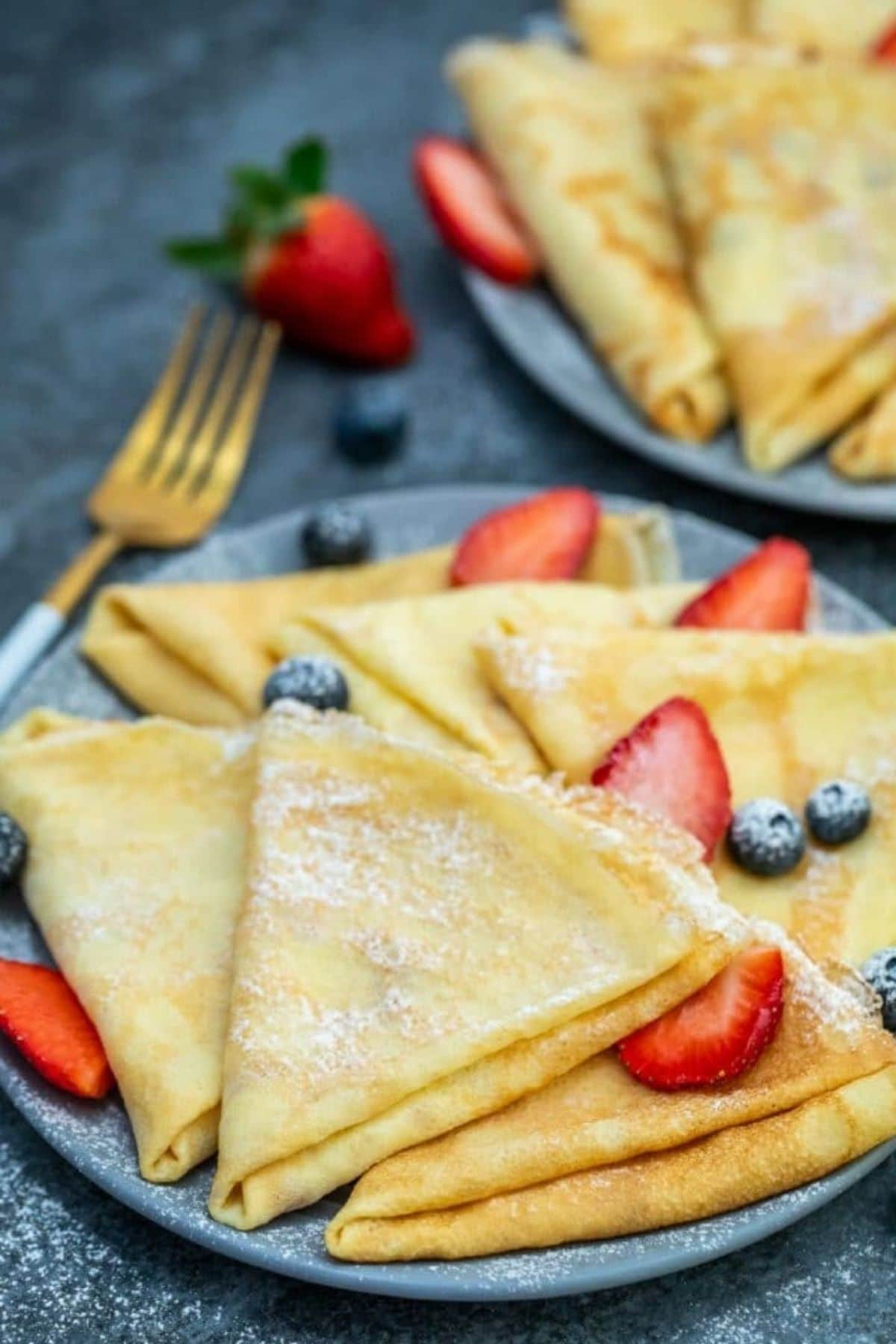 Plate of crepes