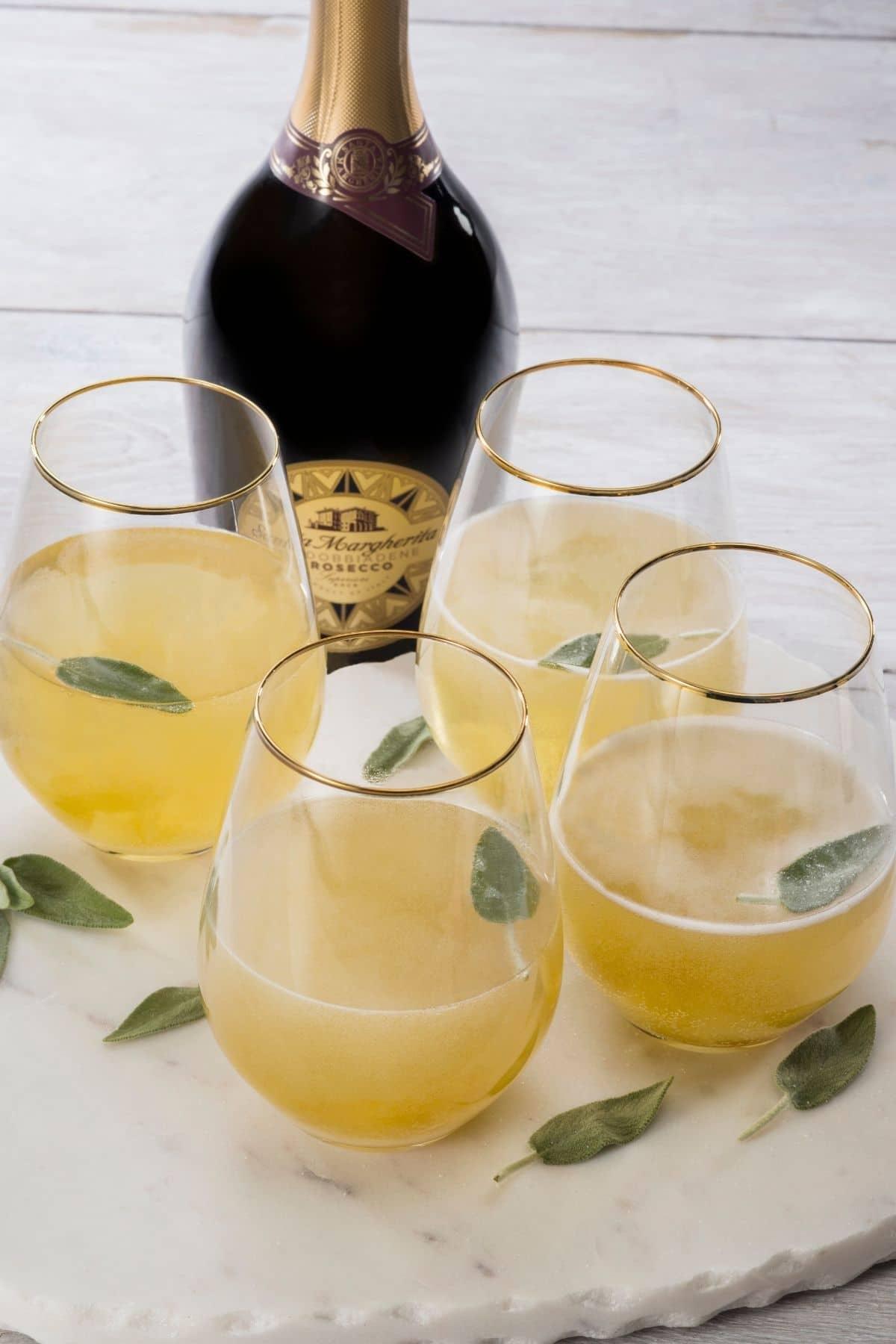 Ginger sage cocktail