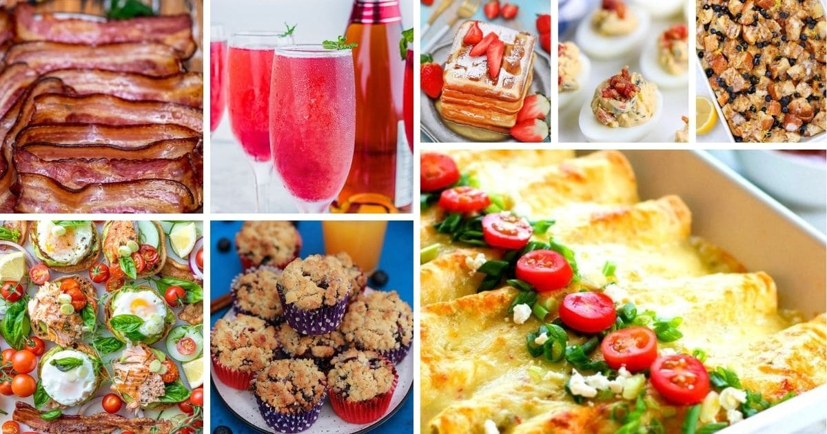 Brunch recipes collage