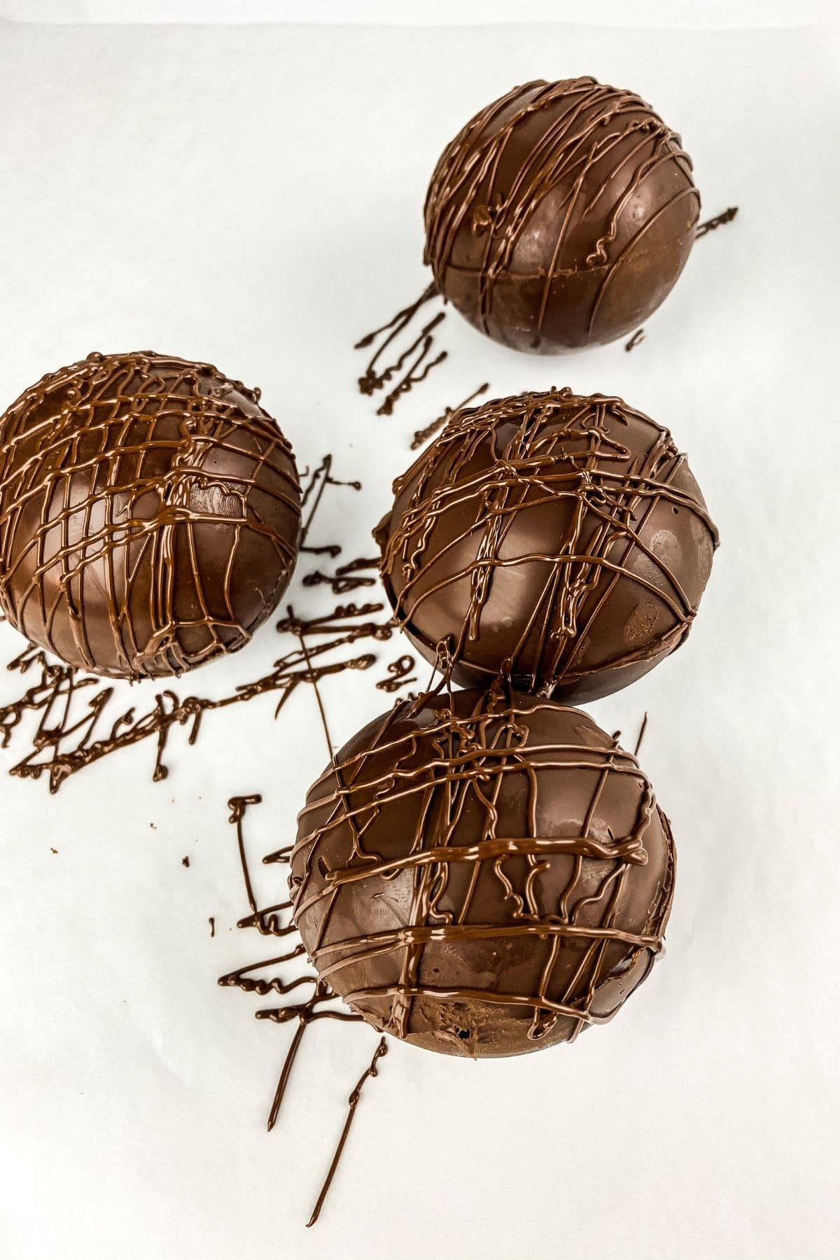 Chocolate coffee bombs on table