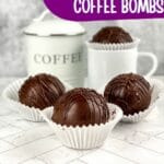 Cafe mocha coffee bombs by mug