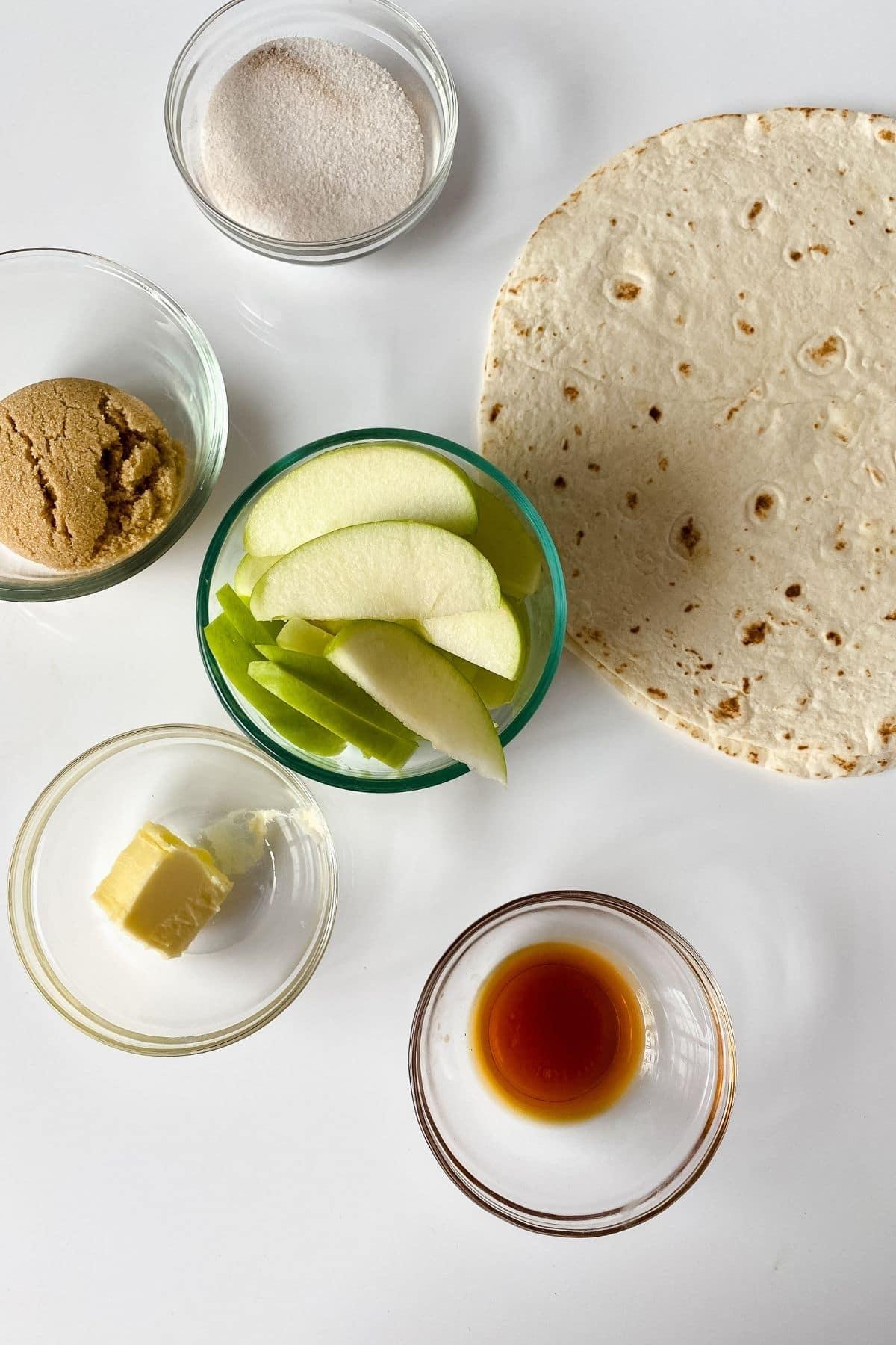 Caramel apple wrap ingredients