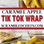 Caramel apple wrap collage
