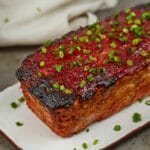 Chicken meatloaf on plate