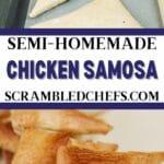 Chicken Samosa collage