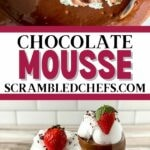 Chocolate mousse collage