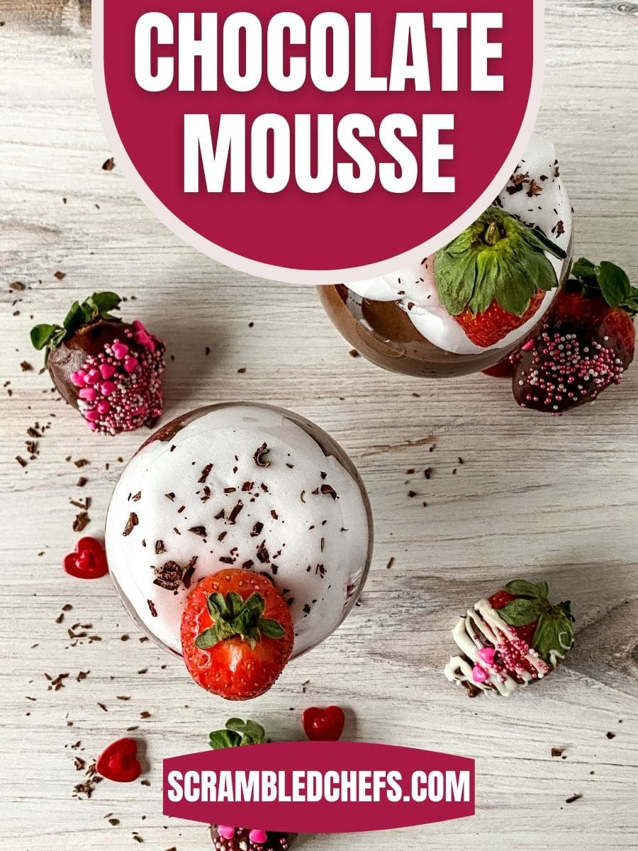 Top of mousse cup