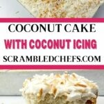 Coconut cake collage