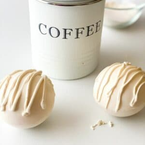 White chocolate coffee bombs