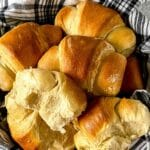 Basket of crescent rolls