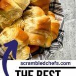 Basket of crescent rolls