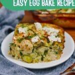 Egg bake on plate