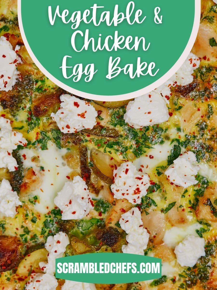 Egg bake in casserole dish