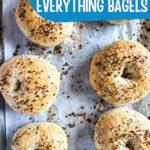Bagels on baking sheet