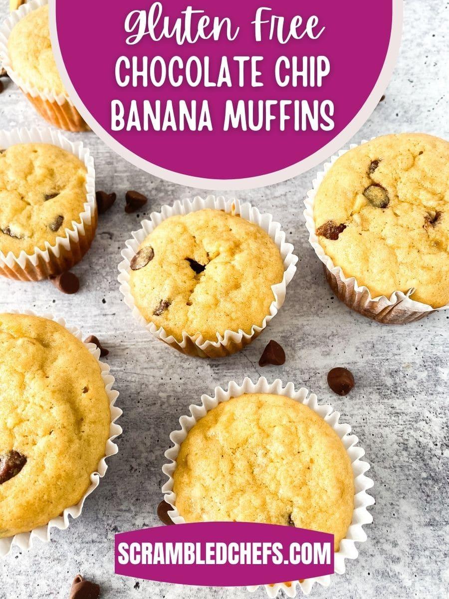Gluten free banana muffins on table