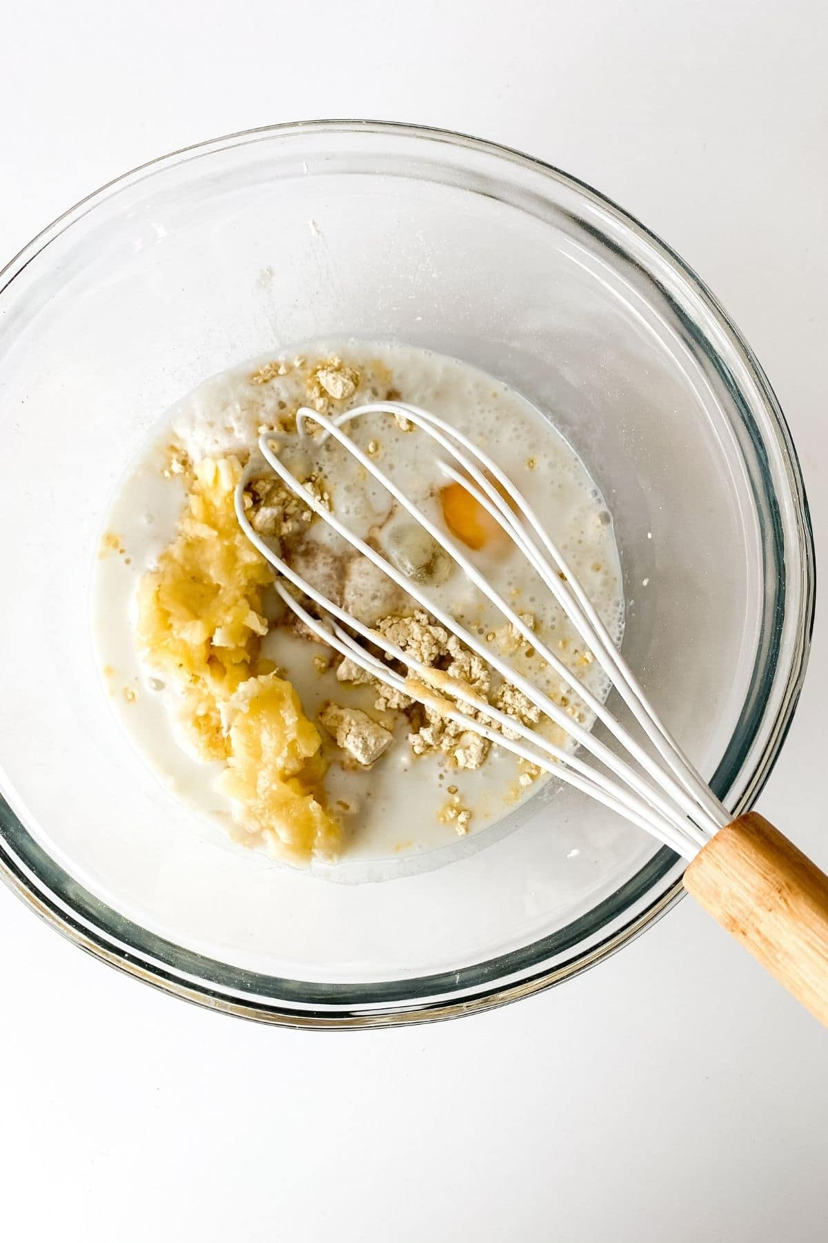 Stirring pancake batter