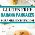 Gluten free banana pancakes collage