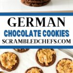 German chocolate cookies collage